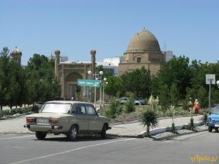 Uzbekistan, Samarkanda - widok na miasto