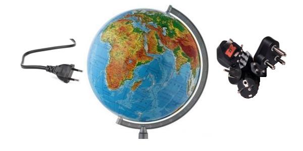 Gniazdka i wtyczki na świecie oraz standardy napięć elektrycznych
